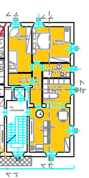 Planimetria 1/3 per rif. 514