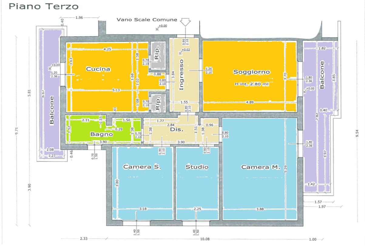 Planimetria 1/3 per rif. 520