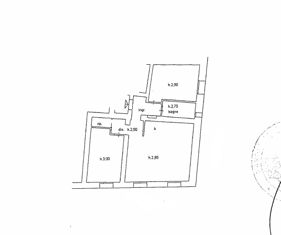 Planimetria 1/1 per rif. 523