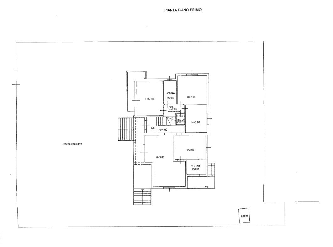 Villa singola in vendita, rif. 536 (Planimetria 1/3)