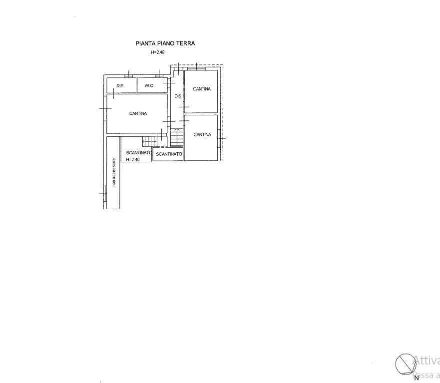 Villa singola in vendita, rif. 536 (Planimetria 2/3)