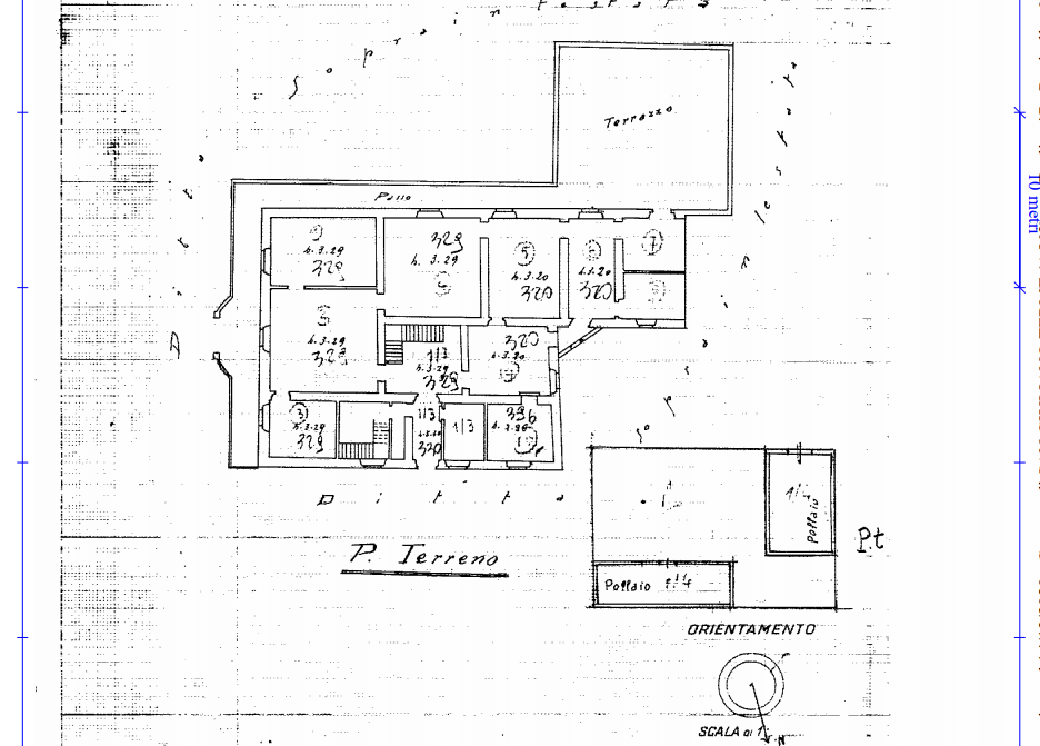 Planimetria 1/2 per rif. 538