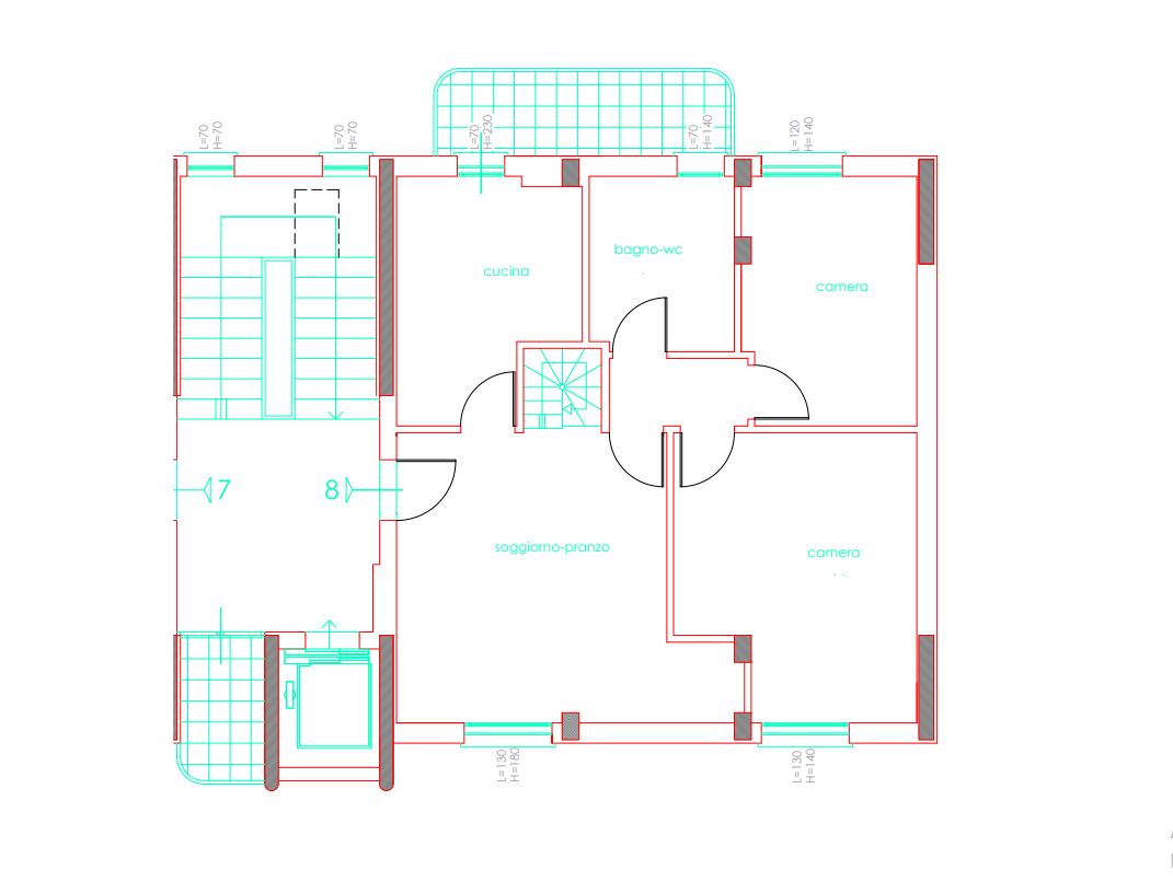Planimetria 2/2 per rif. 054