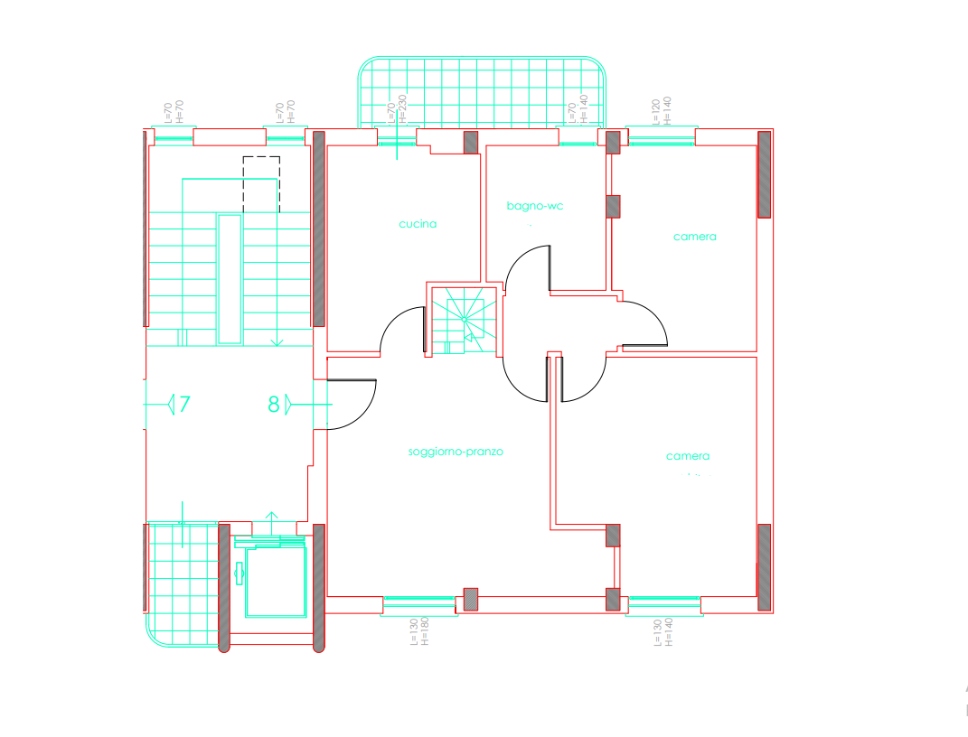 Planimetria 1/2 per rif. 054