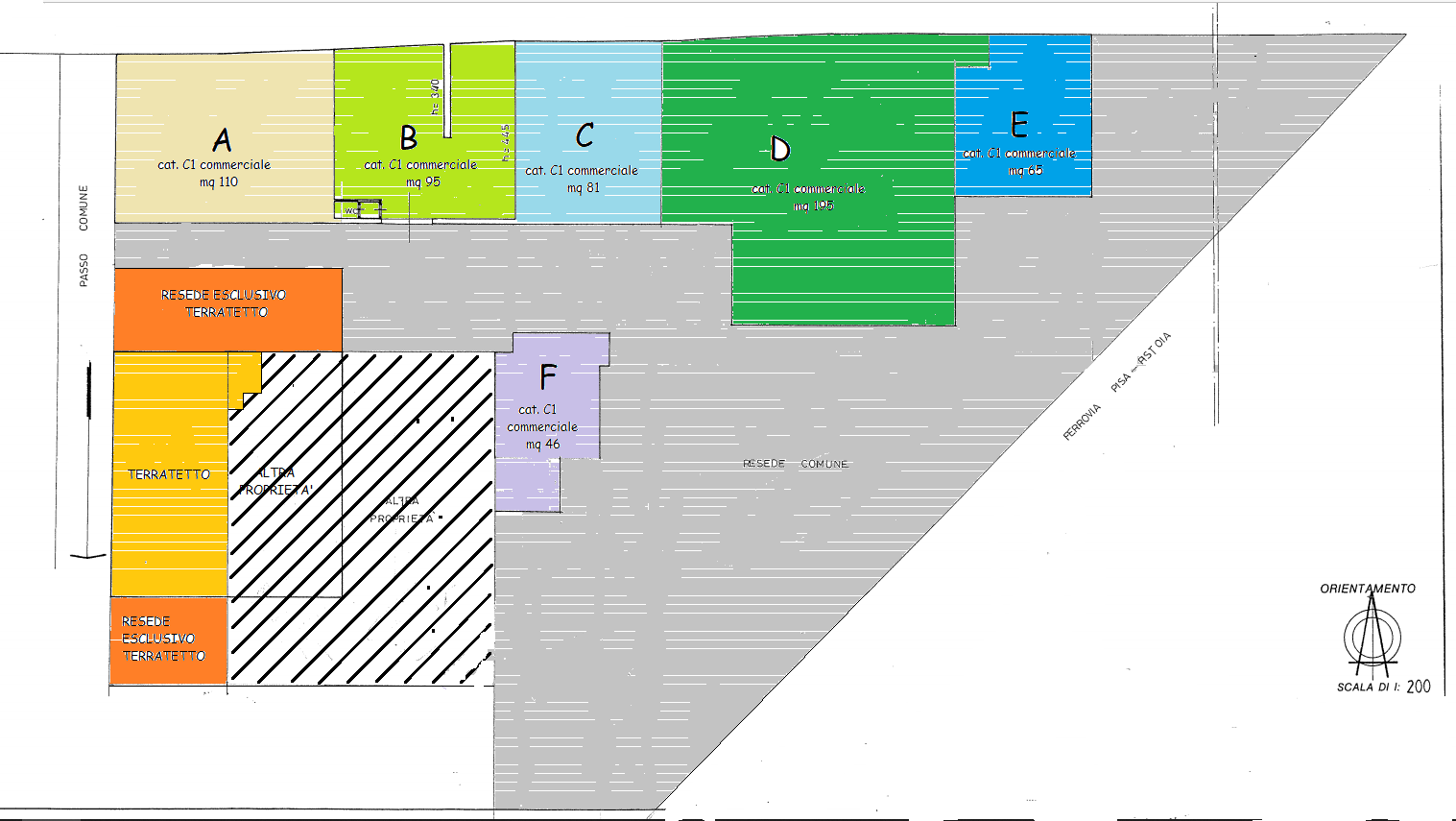 Planimetria 1/3 per rif. 539