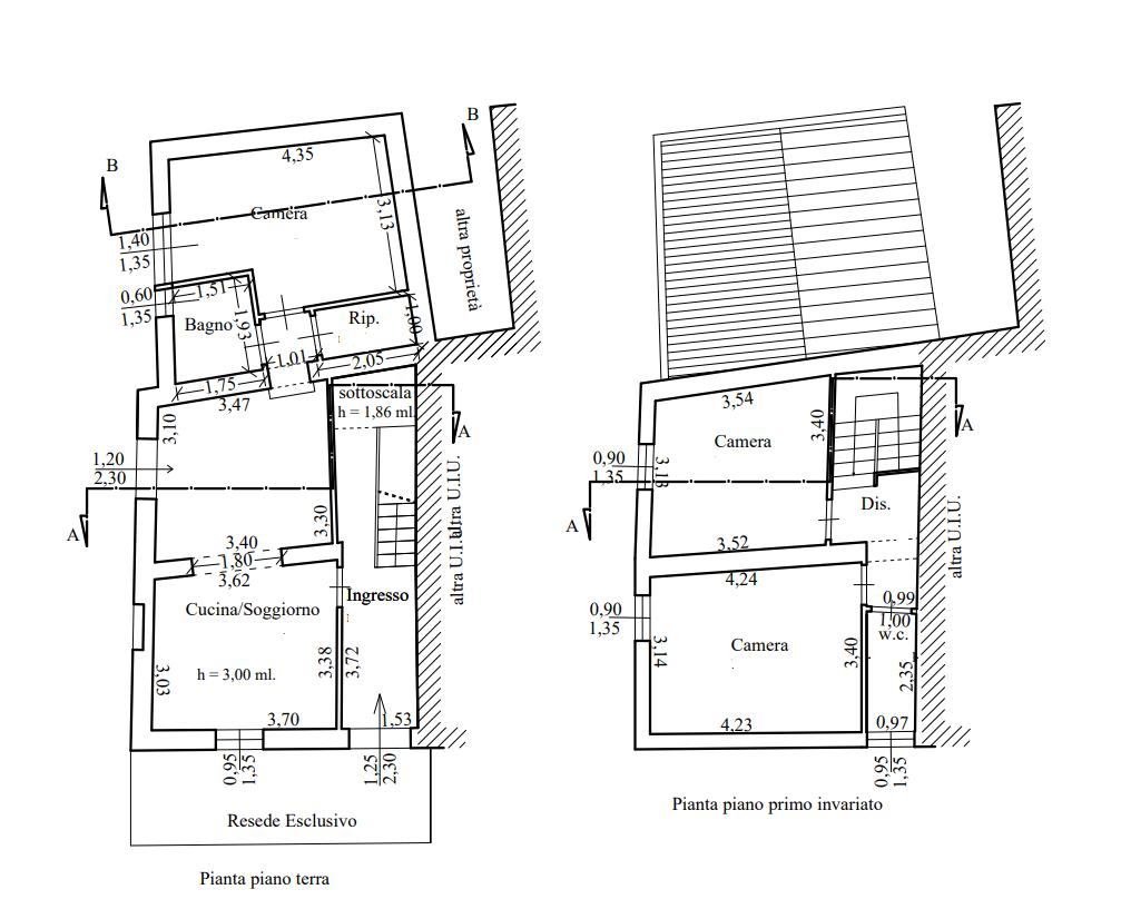 Planimetria 1/2 per rif. 549