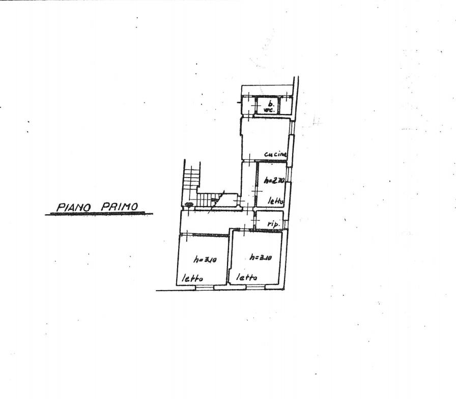 Planimetria 1/4 per rif. 550