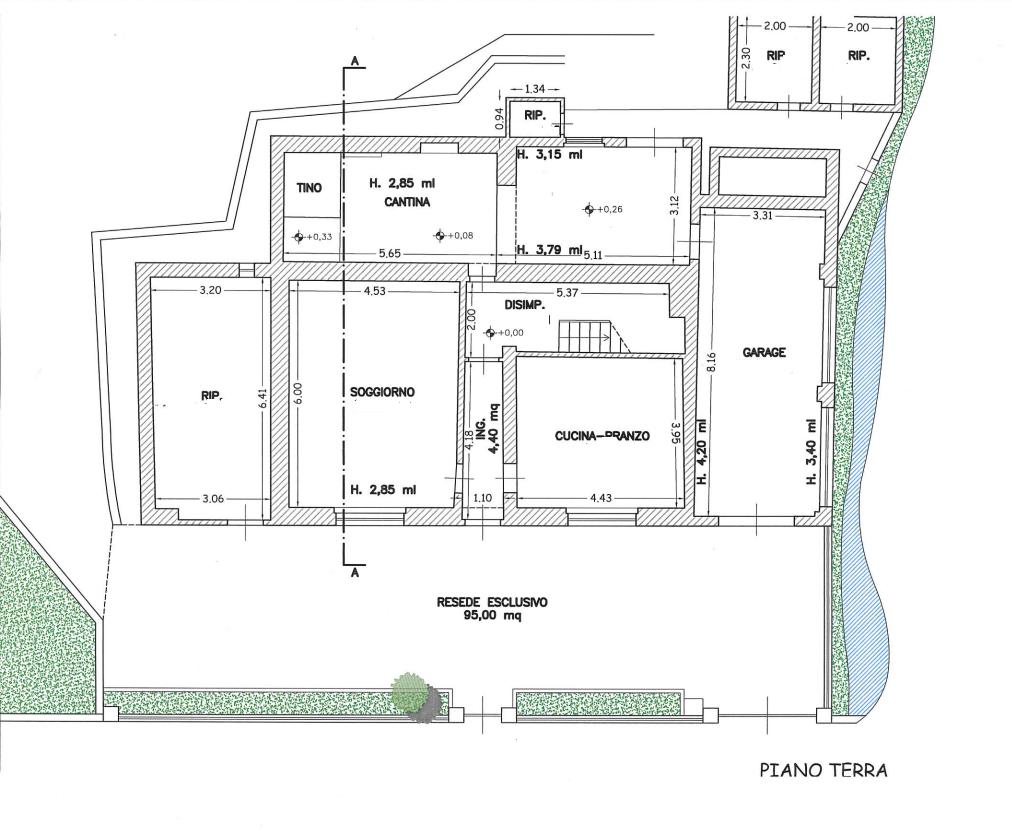 Planimetria 1/4 per rif. 552