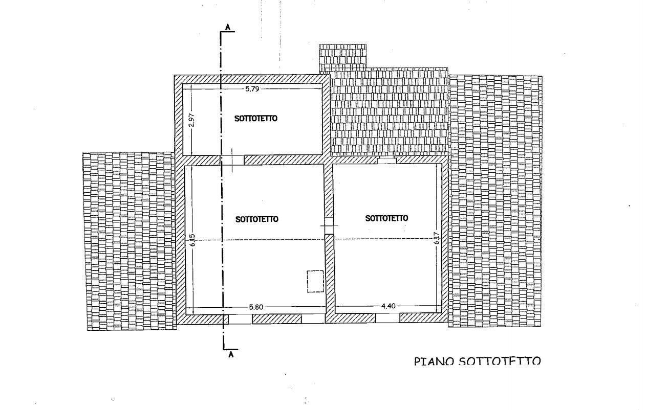 Planimetria 3/4 per rif. 552