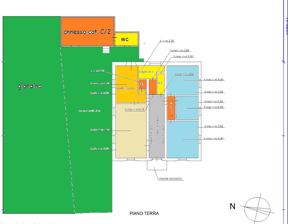 Planimetria 1/2 per rif. 557