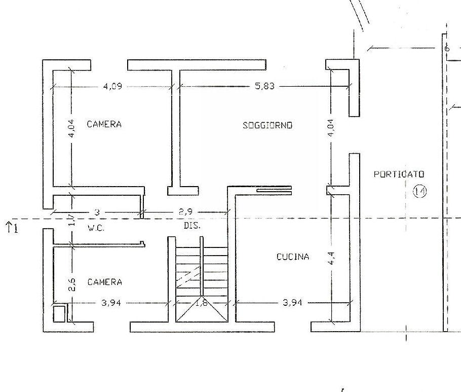 Planimetria 1/3 per rif. IA5095