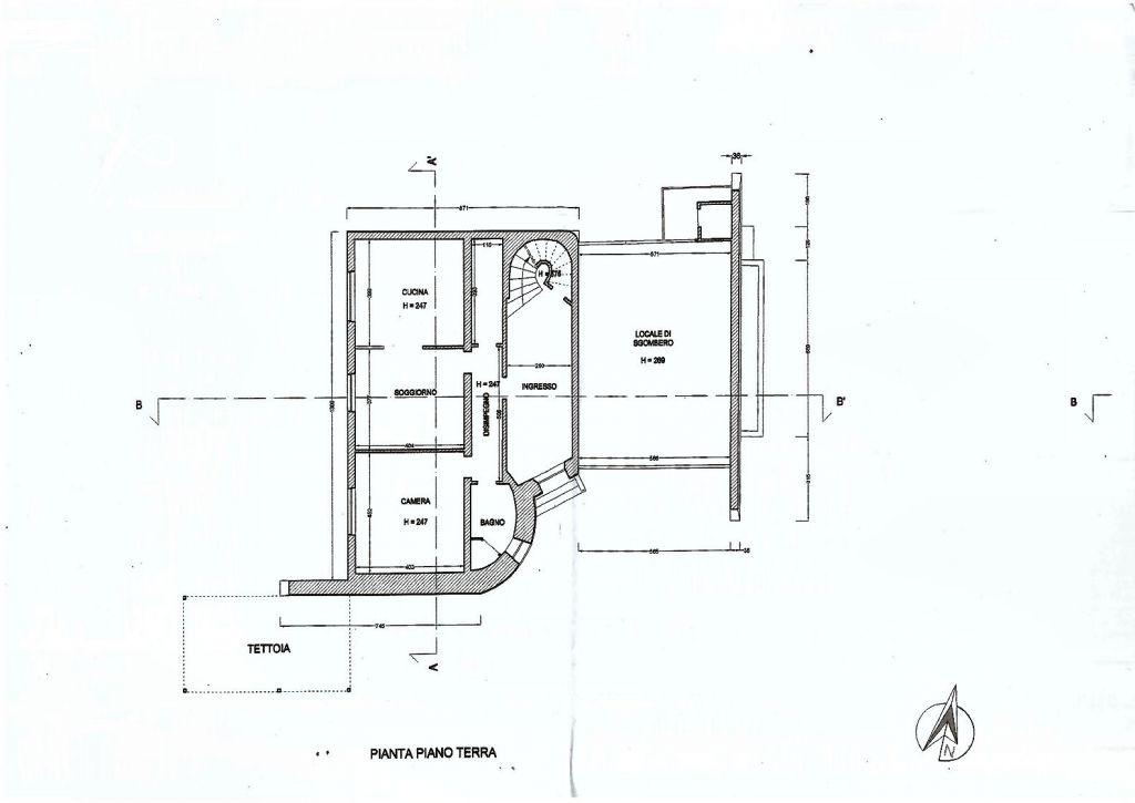 Planimetria 1/2 per rif. IA4915