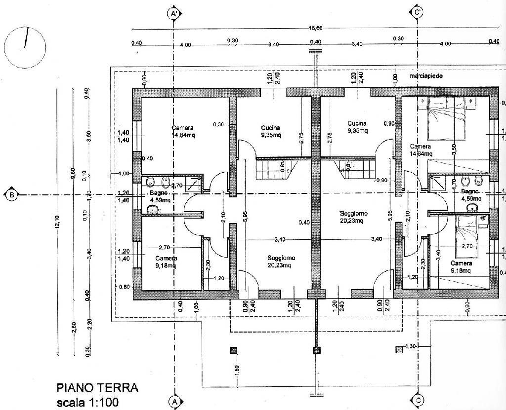 Planimetria 2/4 per rif. IA4731
