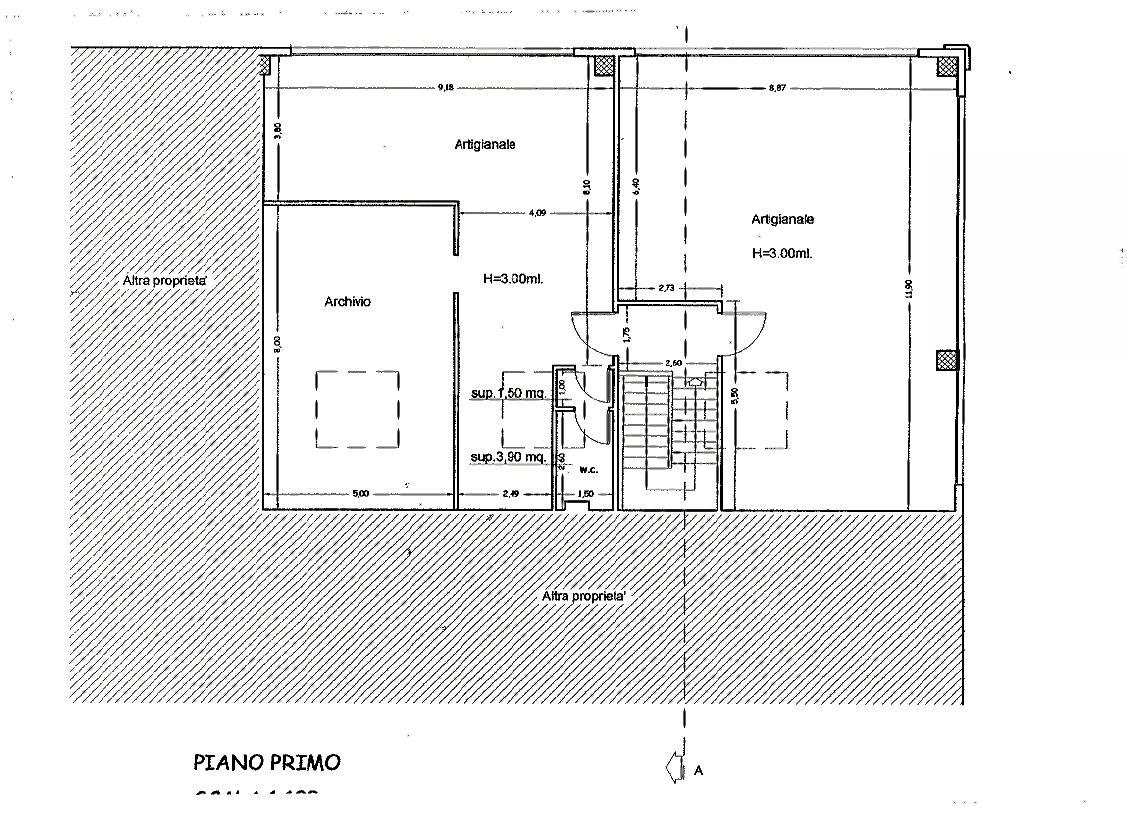 Planimetria 1/2 per rif. UF217