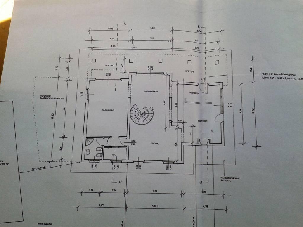 Planimetria 1/2 per rif. IA4391