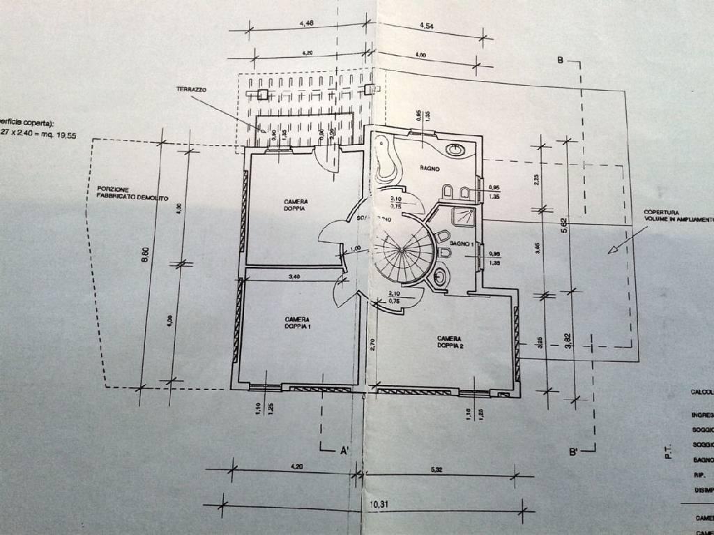 Planimetria 2/2 per rif. IA4391