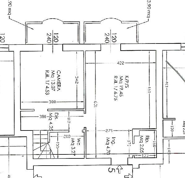 Planimetria 1/2 per rif. IA4685