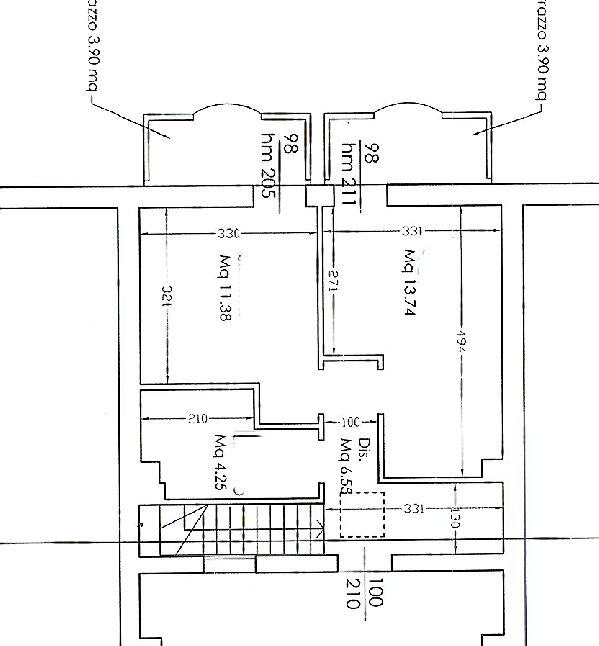 Planimetria 2/2 per rif. IA4685