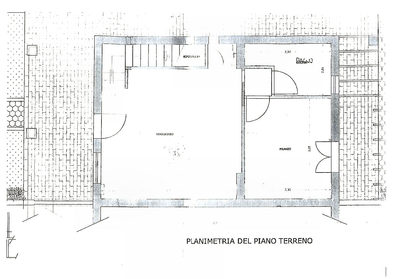 Planimetria 1/3 per rif. ia5293