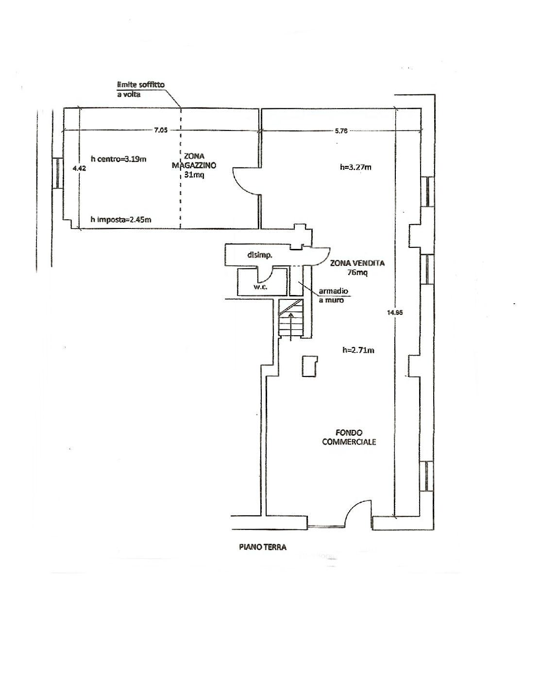 Planimetria 1/2 per rif. UF5296