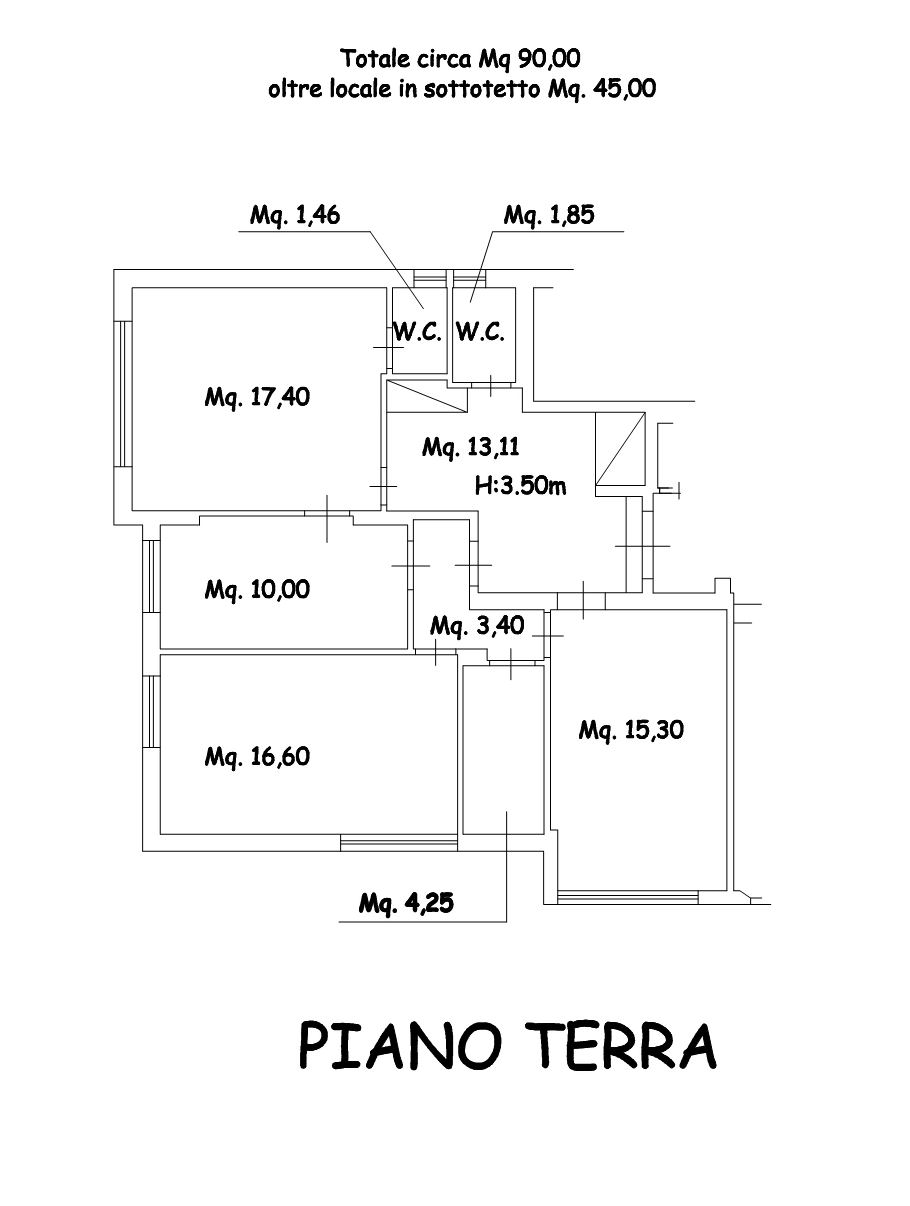 Planimetria 1/1 per rif. AF5334
