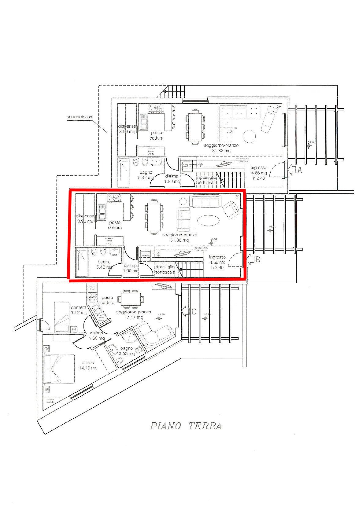 Planimetria 1/3 per rif. IA5351