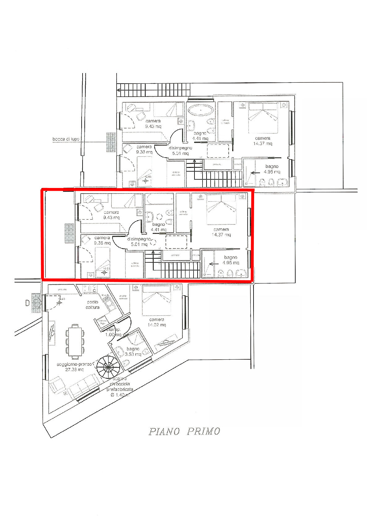 Planimetria 2/3 per rif. IA5351
