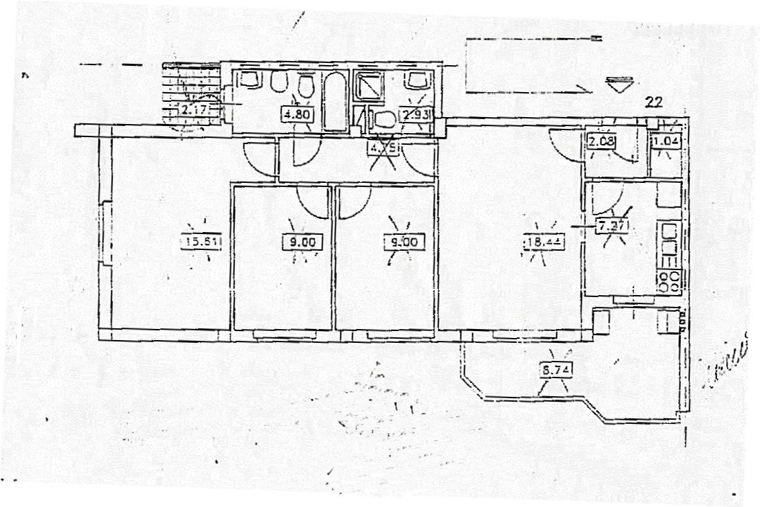 Planimetria 1/1 per rif. IA5454