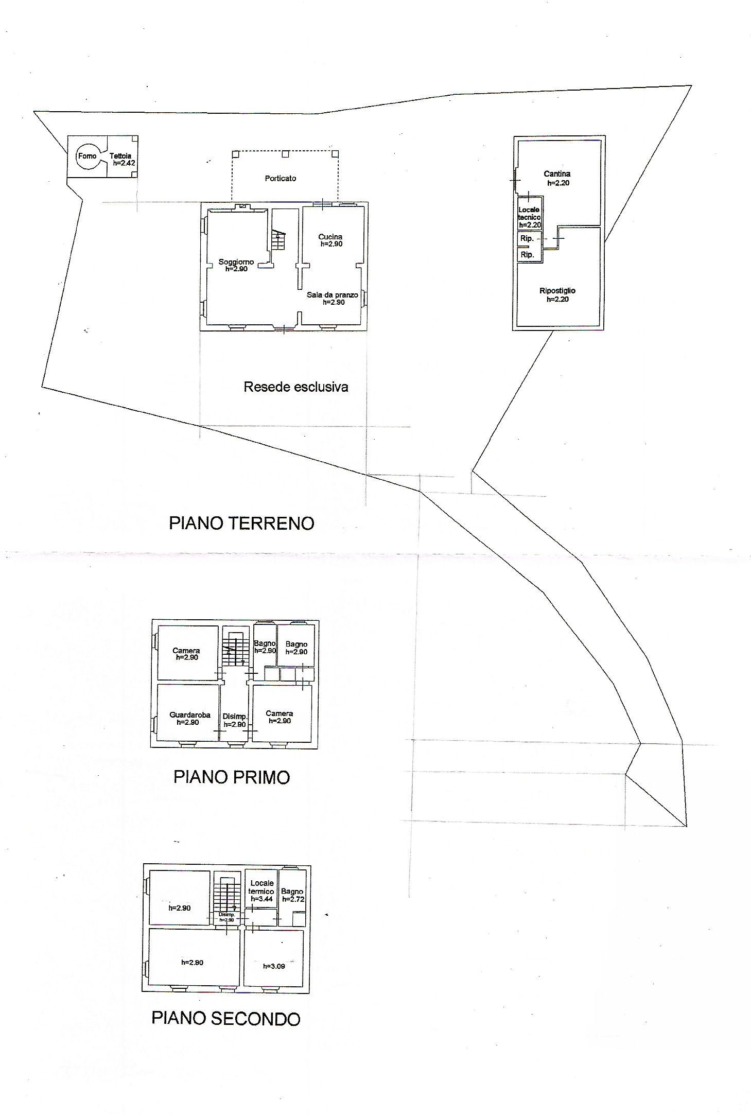 Planimetria 1/1 per rif. ia5493