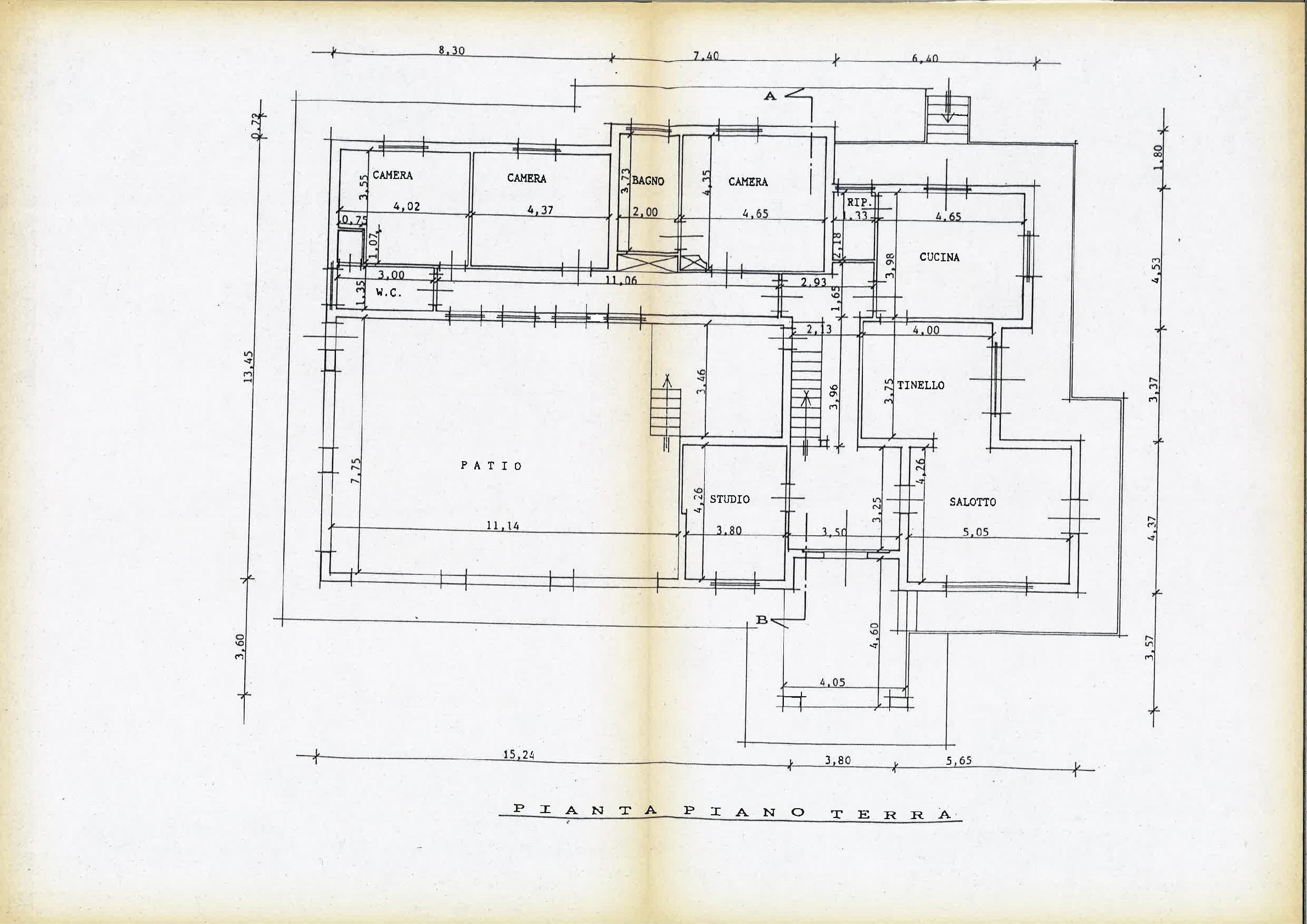 Planimetria 1/4 per rif. IA5530
