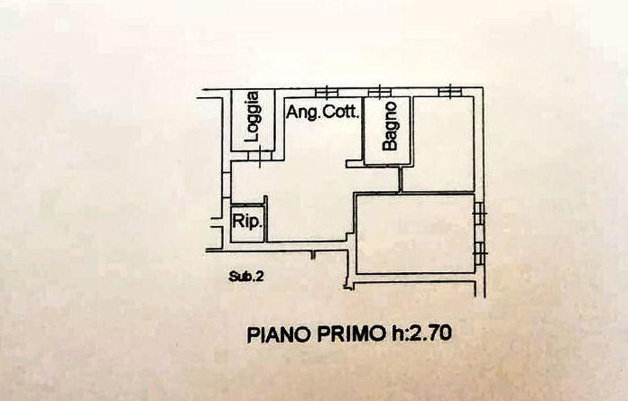 Planimetria 1/3 per rif. IA5595