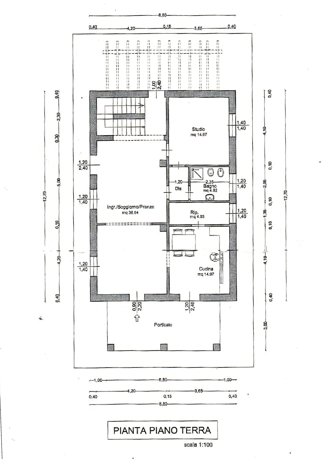 Planimetria 1/5 per rif. IA5647