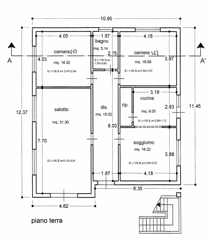 Planimetria 1/3 per rif. IA5651