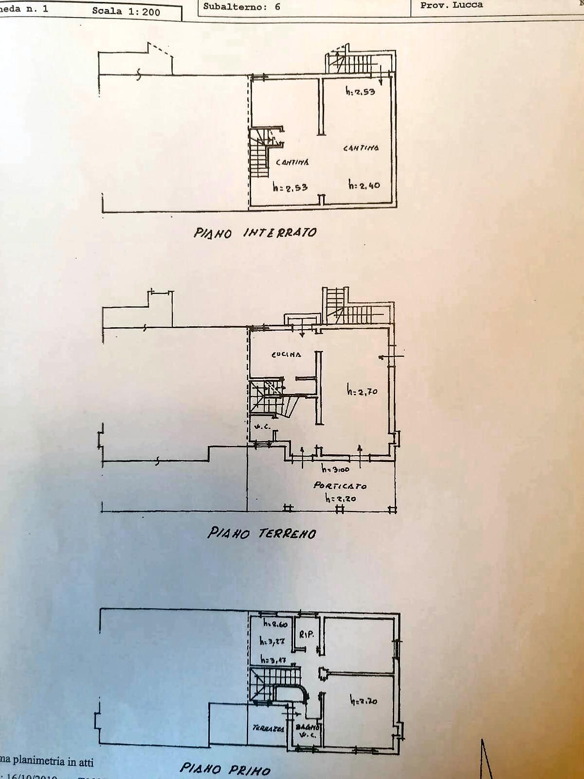 Planimetria 1/2 per rif. IA5721