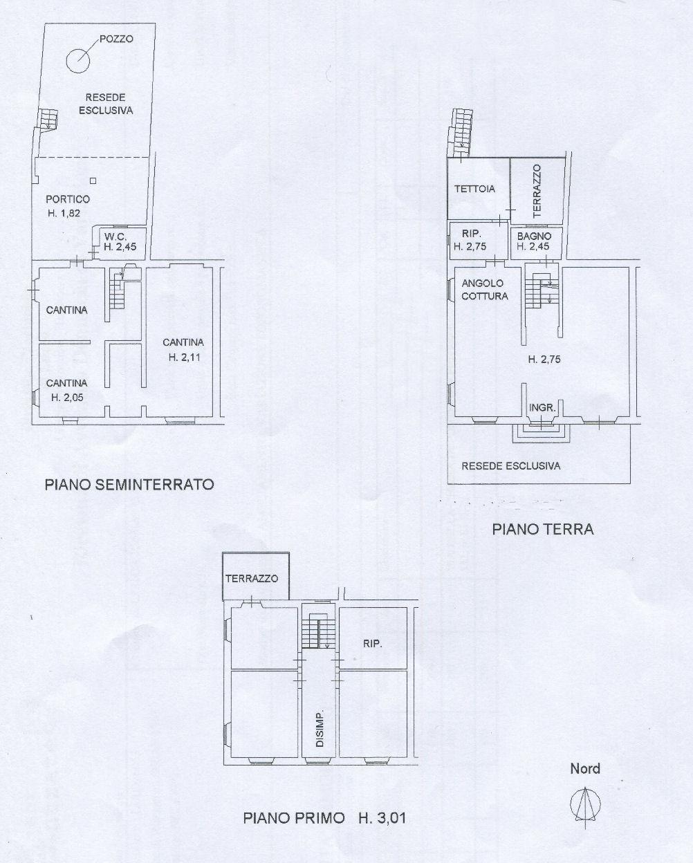 Planimetria 1/2 per rif. IA5740
