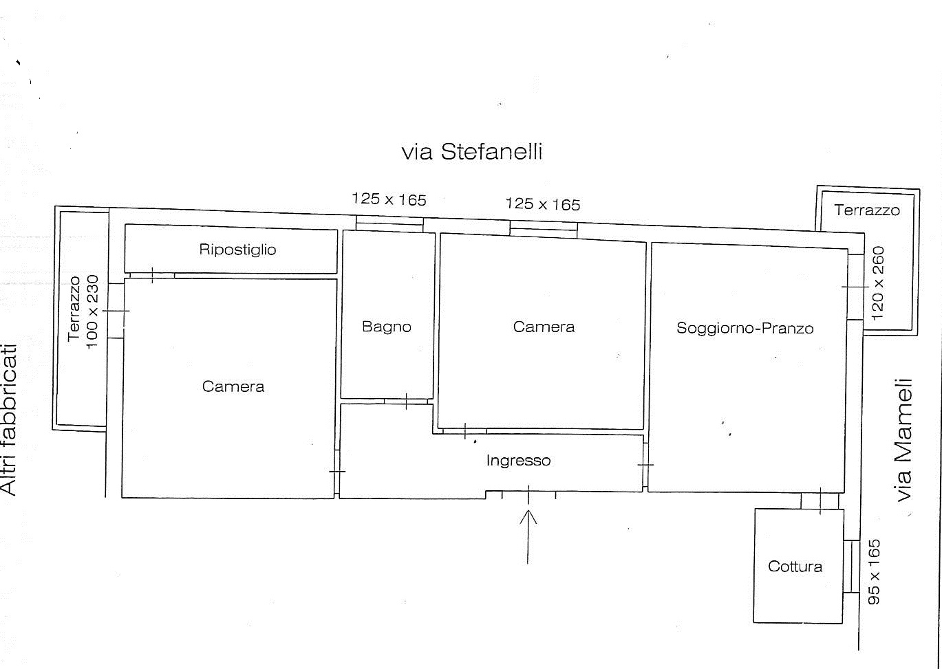Planimetria 1/1 per rif. 7192/BD