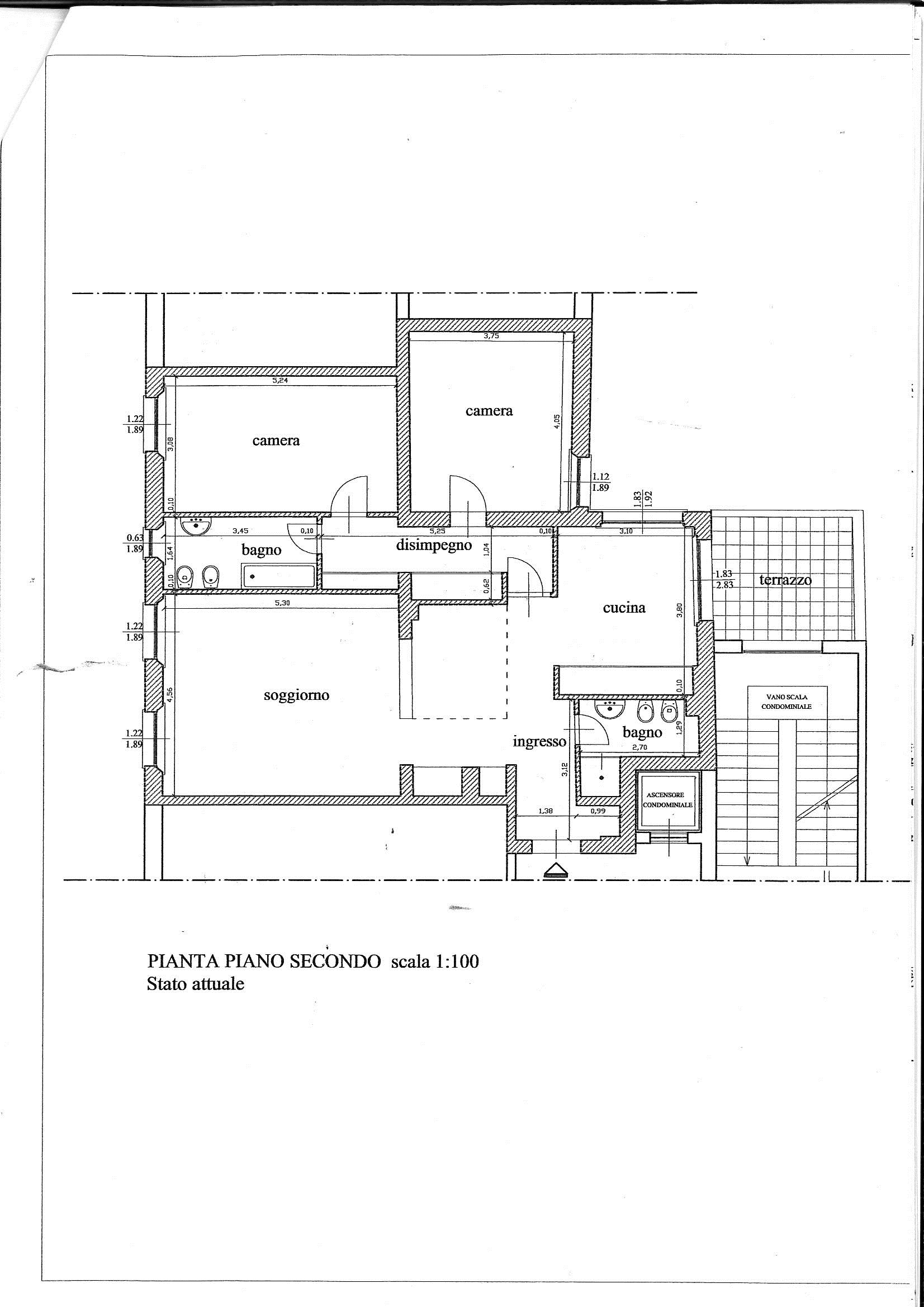 Planimetria 1/1 per rif. 7197/BD