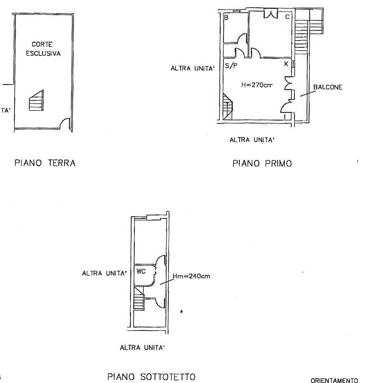 Planimetria 2/2 per rif. 7299/BD