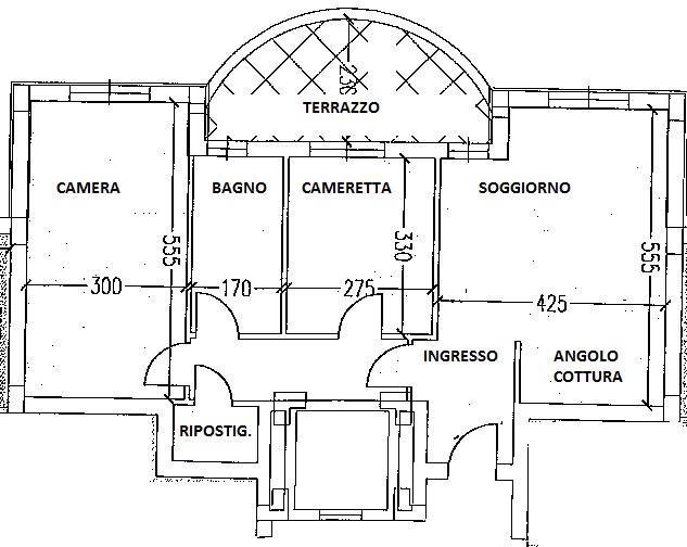 Planimetria 1/1 per rif. 7327/C