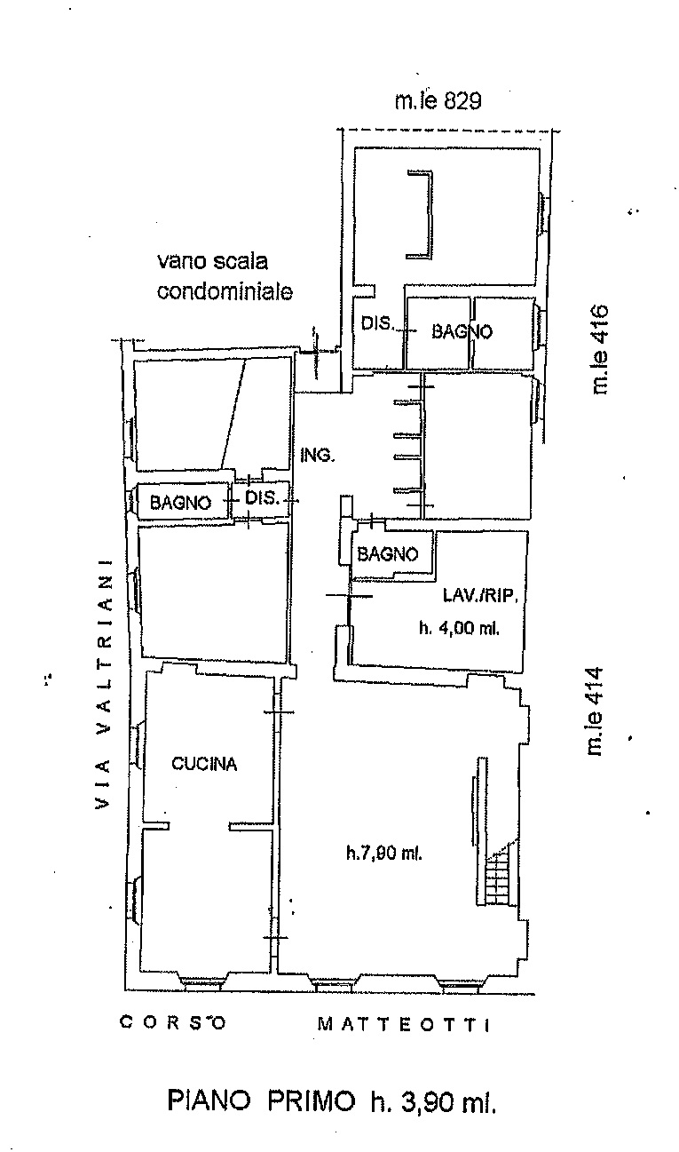 Planimetria 1/1 per rif. 7351/GD