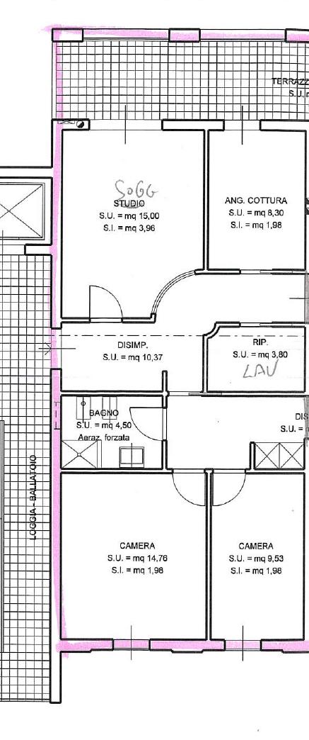 Planimetria 1/1 per rif. 7368/BD