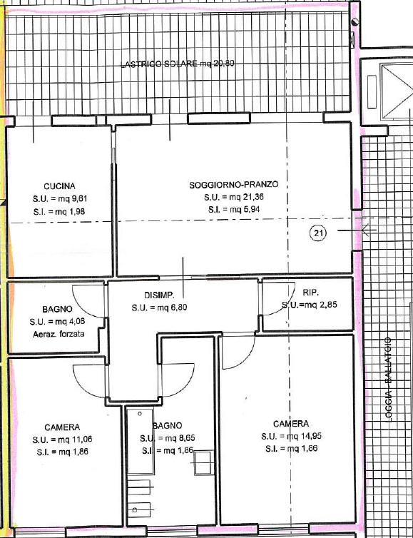 Planimetria 1/1 per rif. 7370/BD