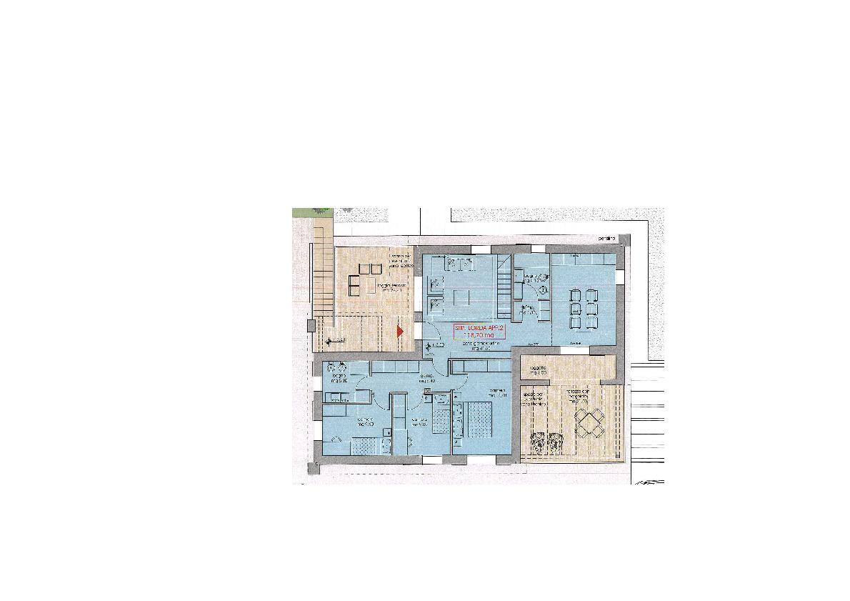 Planimetria 2/2 per rif. 7390/BD
