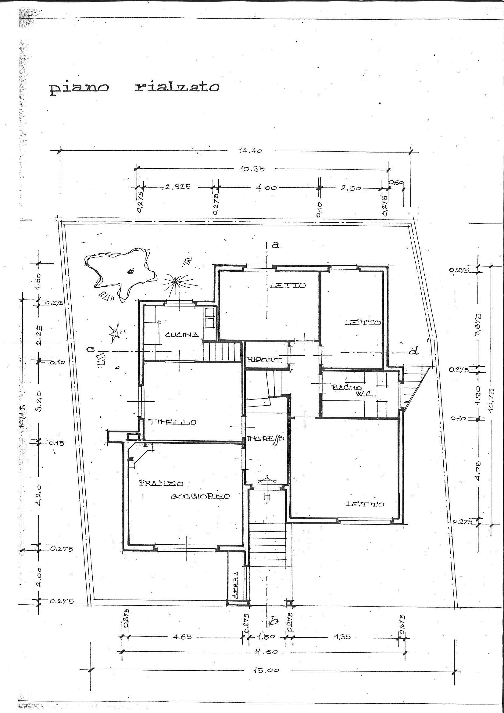 Planimetria 2/2 per rif. 7402/BD