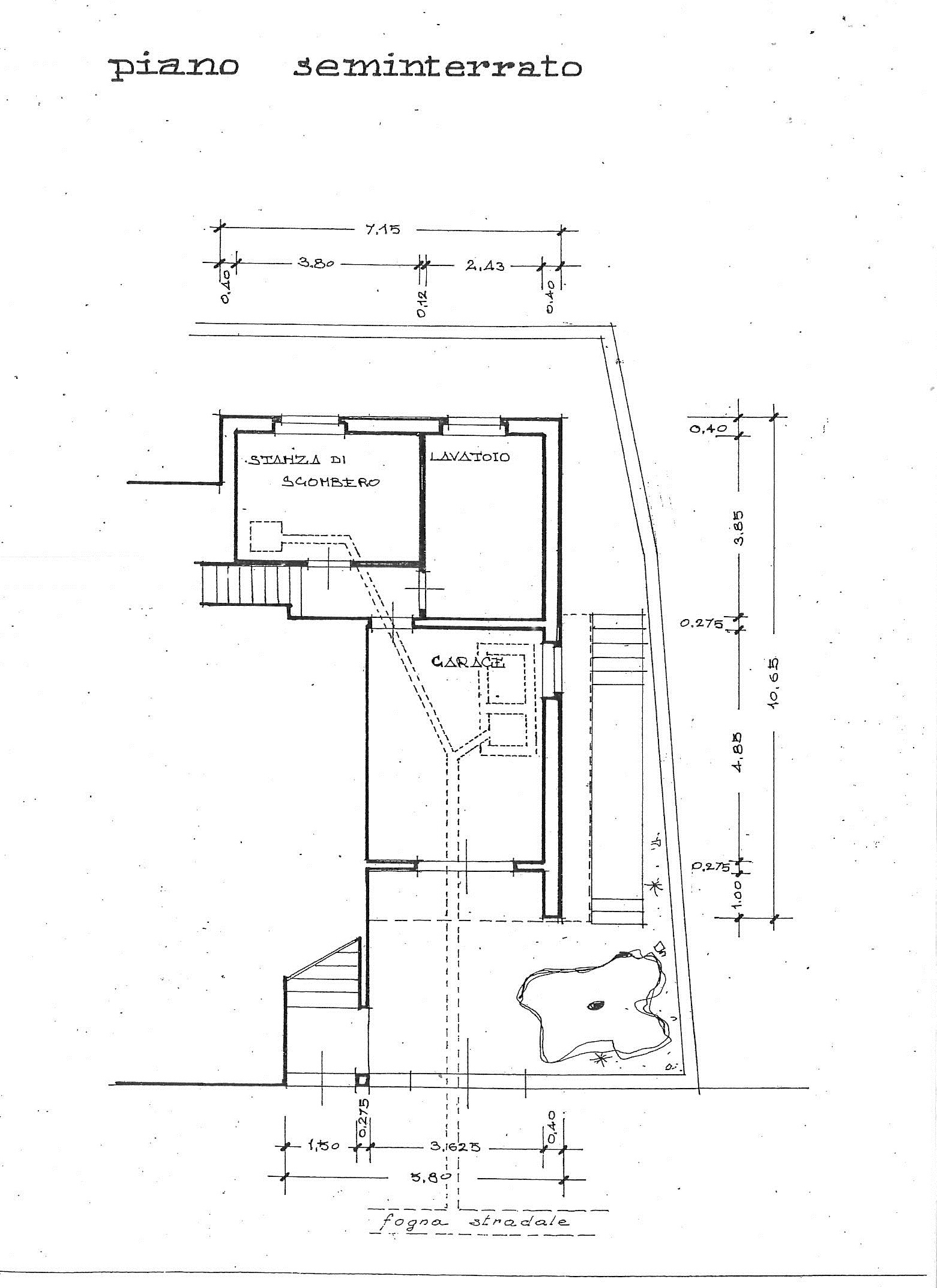 Planimetria 1/2 per rif. 7402/BD