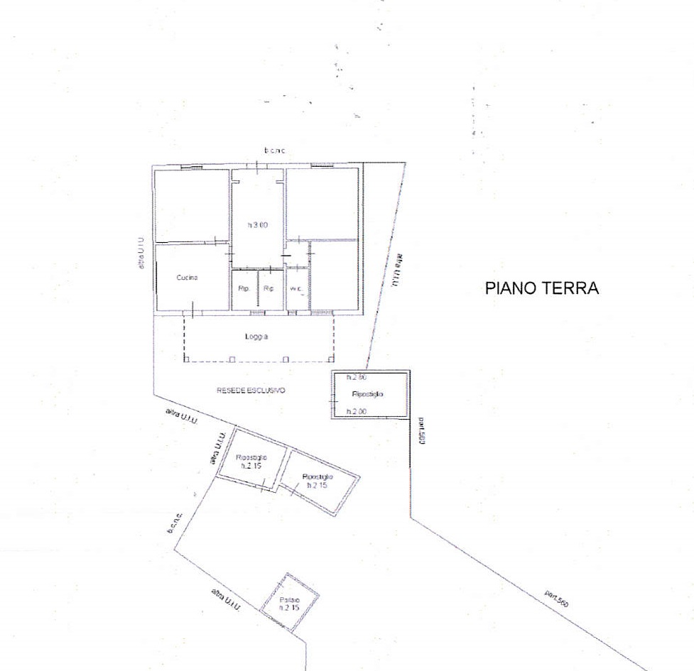 Planimetria 1/2 per rif. 7418/GD