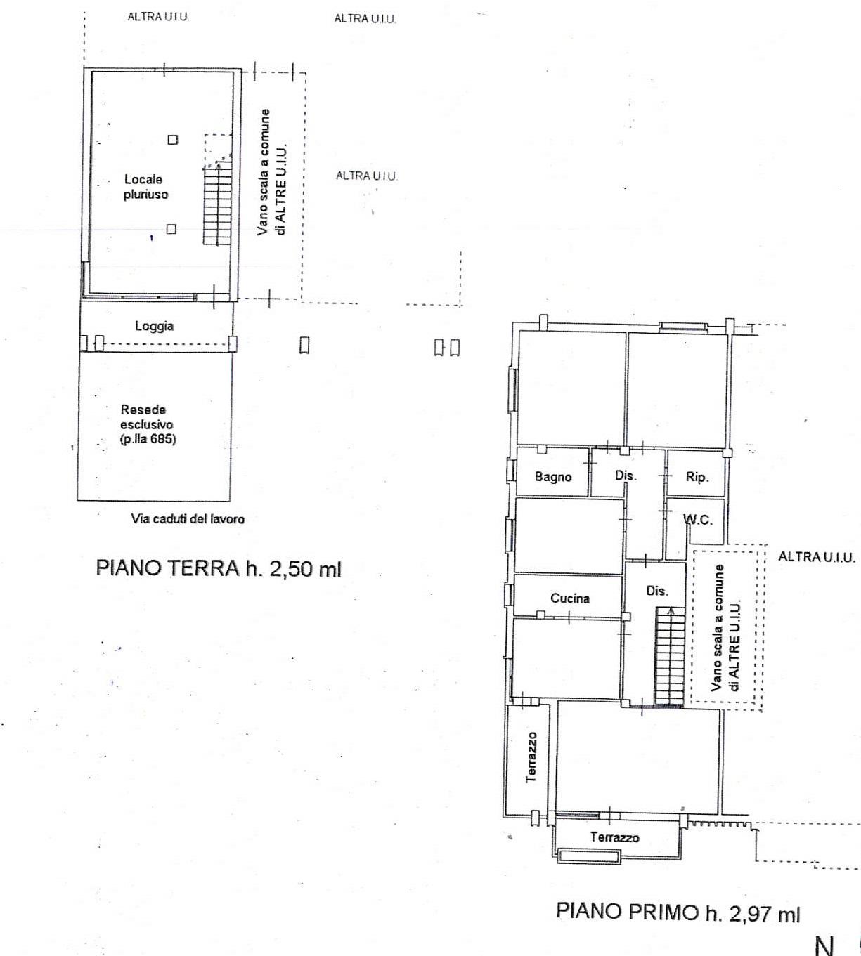 Planimetria 2/2 per rif. 7420/GD