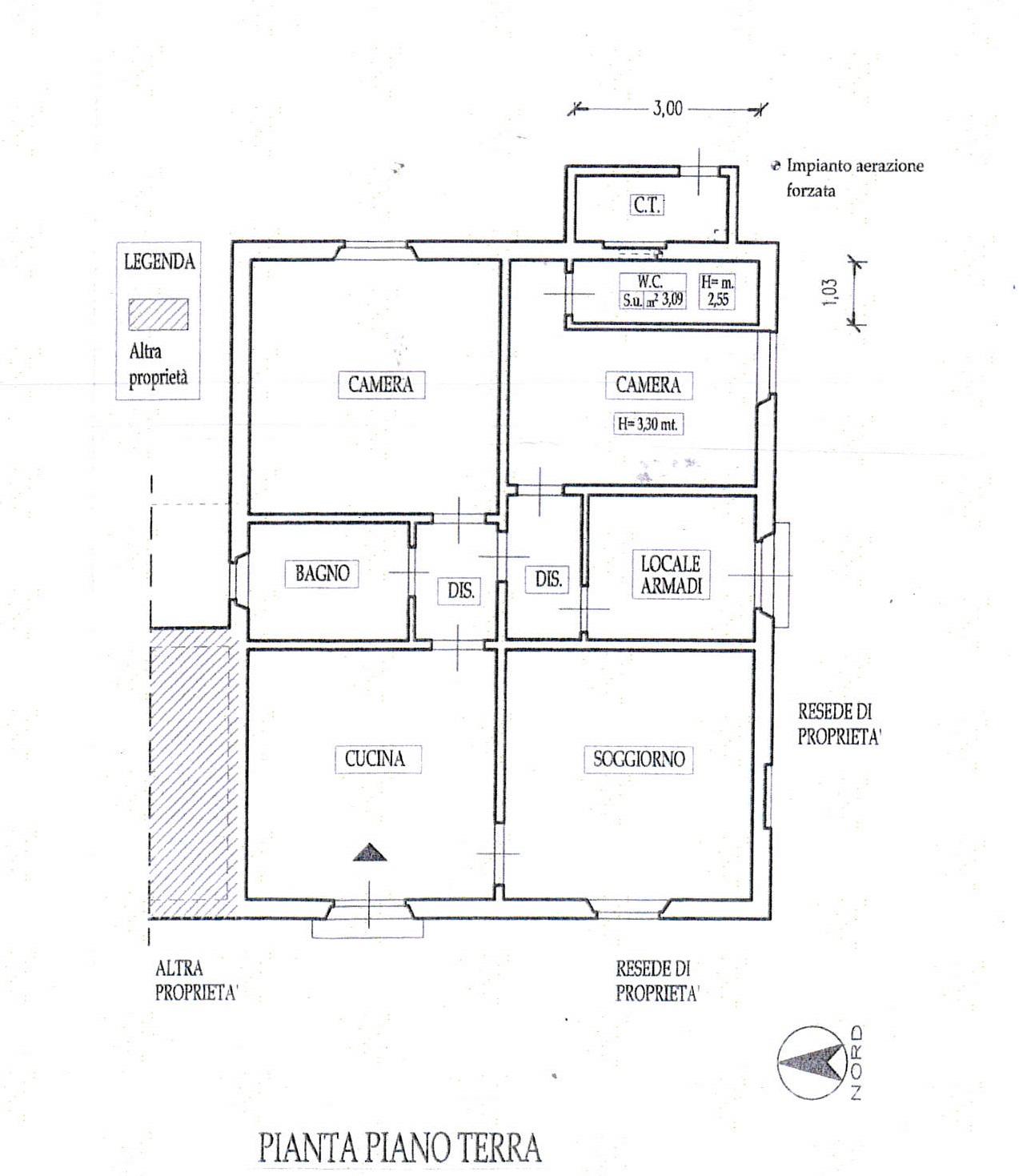 Planimetria 1/2 per rif. 7424/GD