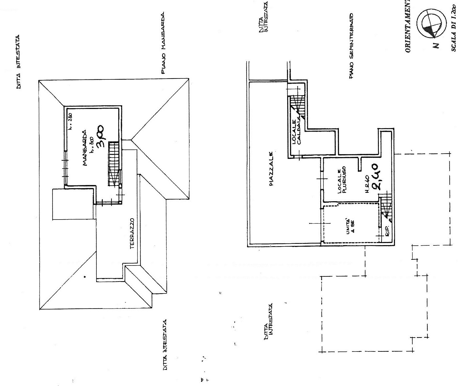 Planimetria 1/3 per rif. 7504/BD