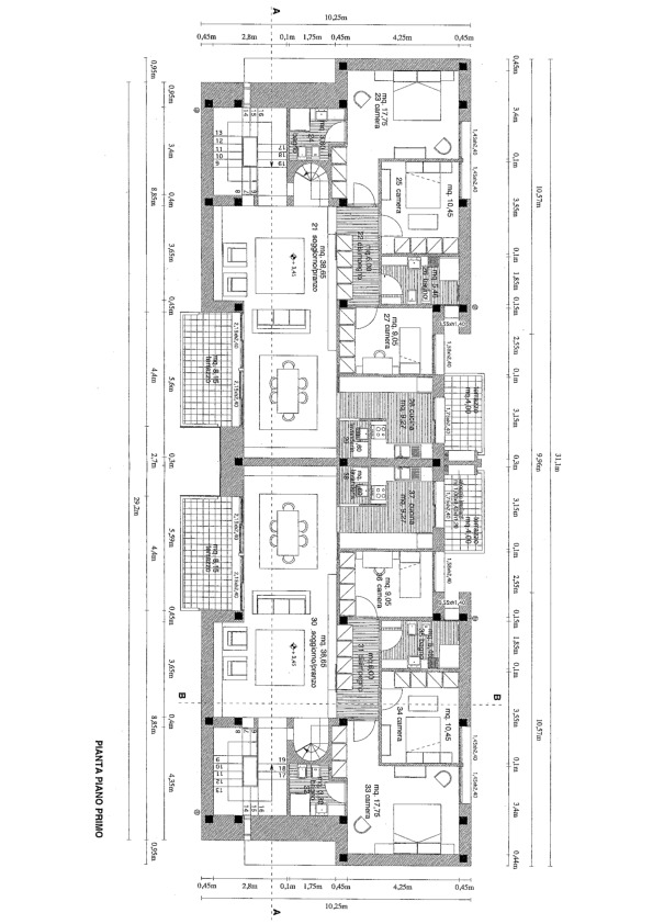 Planimetria 1/5 per rif. 7520/BC